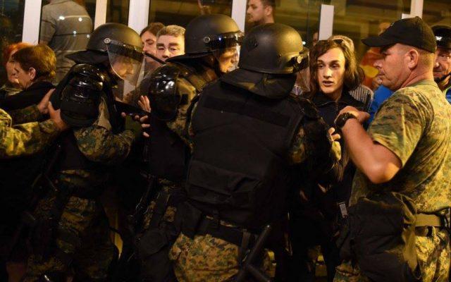 Љуми Бекири во судир со полицијата