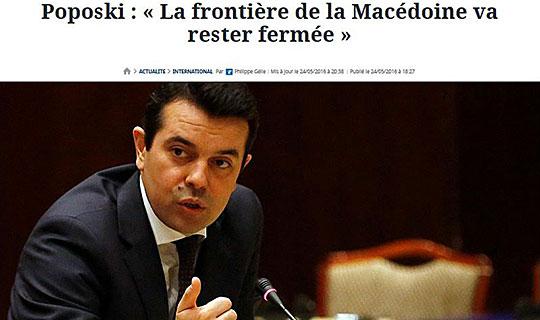 """Попоски за """"Фигаро"""": Границата на Македонија ќе остане затворена"""