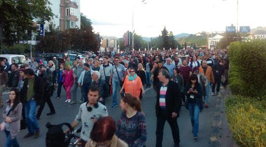 """Протест на граѓанската иницијатива """"Протестирам"""""""