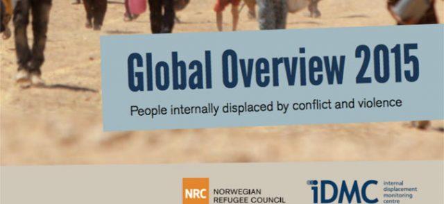 Во 2015 година над 40 милиони лица раселени од домовите поради војни