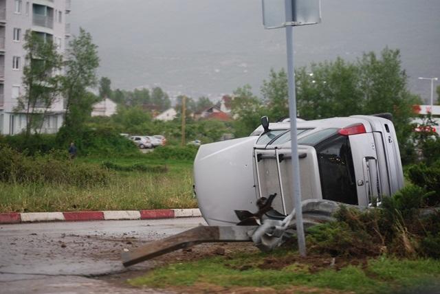 """Сообраќајка на излезот од Охрид, во близина на бензинската на """"Лукоил"""""""