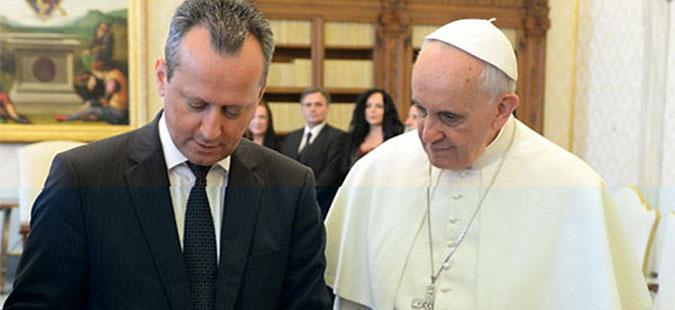 Македонска делегација на аудиенција кај папата Франциско