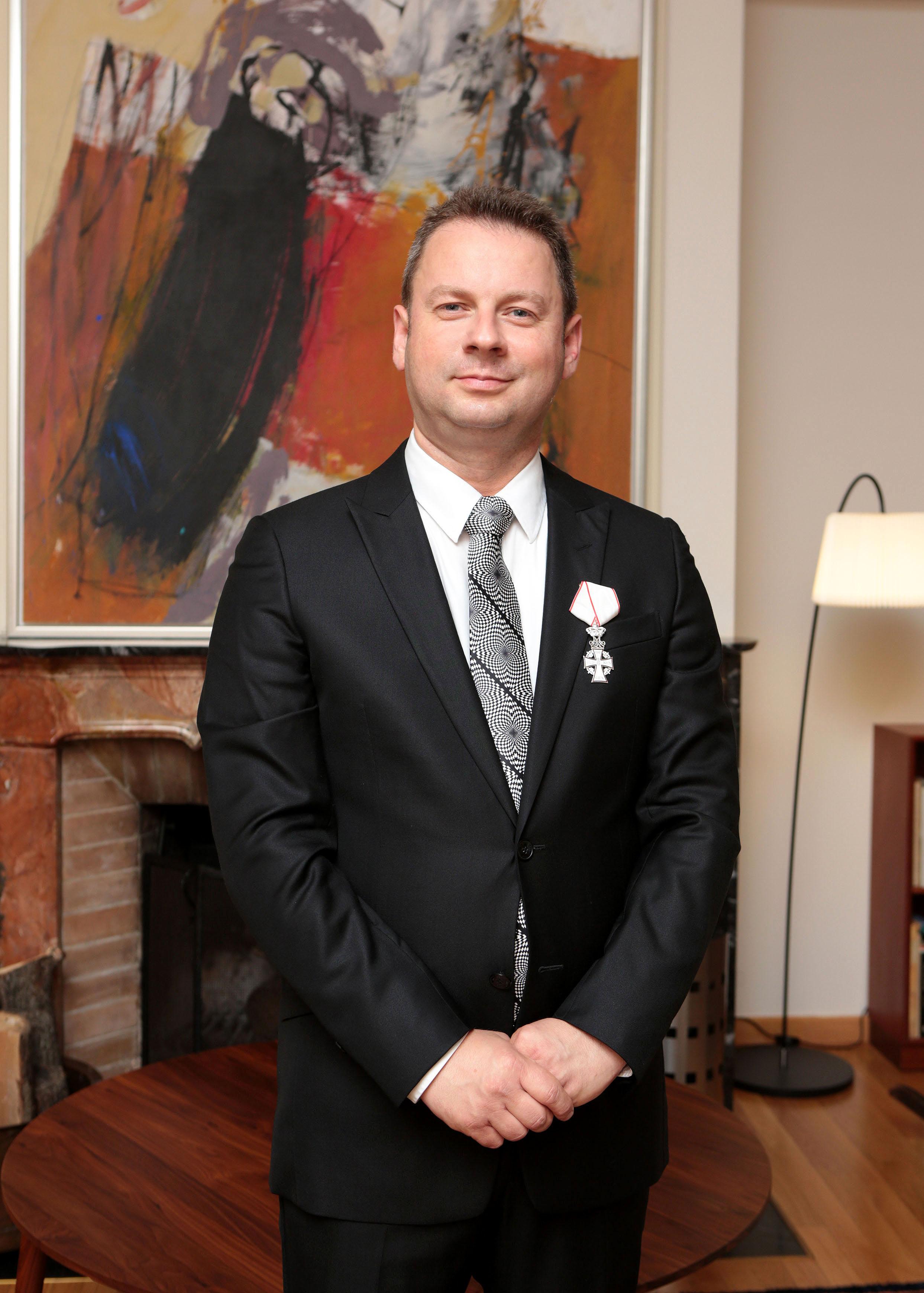 Живко Мукаетов одликуван во Витез на Данското Знаме од Кралицата Маргарете II
