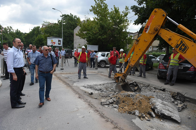 Pocetok na izgradba na atmosferska kanalziacija Dzon Kenedi i Kemal Ataturk (3)