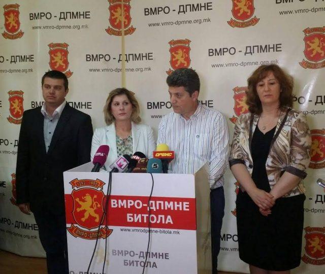 ВМРО-ДПМНЕ Битола: Талевски е жртва на класичен политички прогон