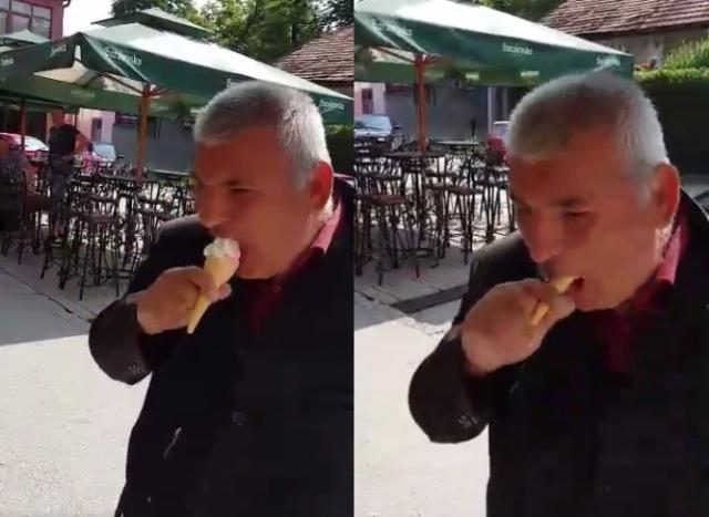 ВИДЕО: Босанецот со сладолед стана хит на социјалните мрежи
