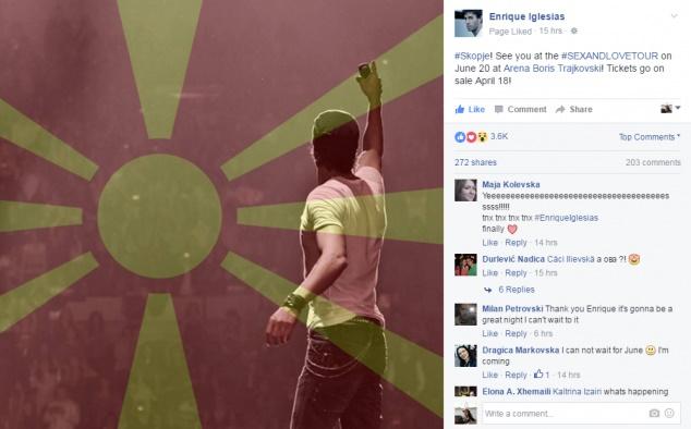 Енрике Иглесиас ги покани македонските фанови на концертот во Скопје  (ВИДЕО)