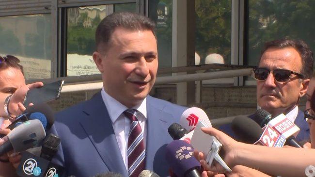 Груевски: СЈО и Заев прават политичка хајка која нема да им успее
