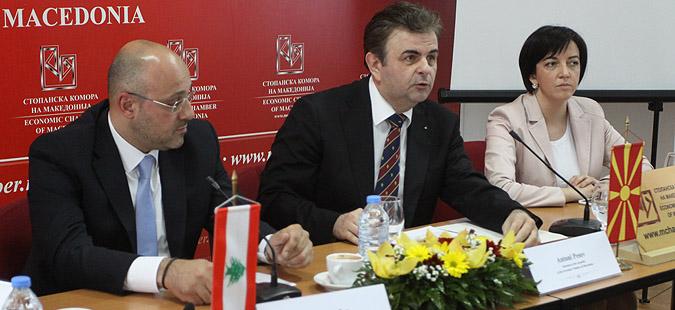 Либански компании заинтересирани за соработка со Македонија