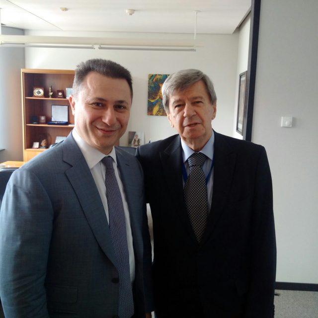 Груевски на средби со високи политички претставници во Брисел