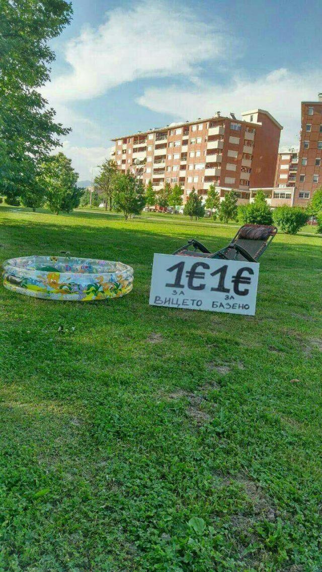 """Граѓаните со порака до Вице Заев: """"Евро по евро - базен за Вице Заев"""""""