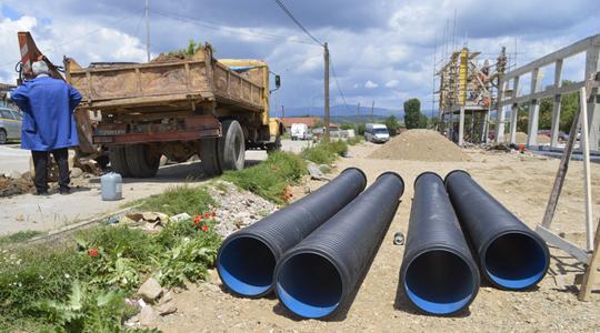 Атмосферска канализација со полиетиленски цевки во Делчево