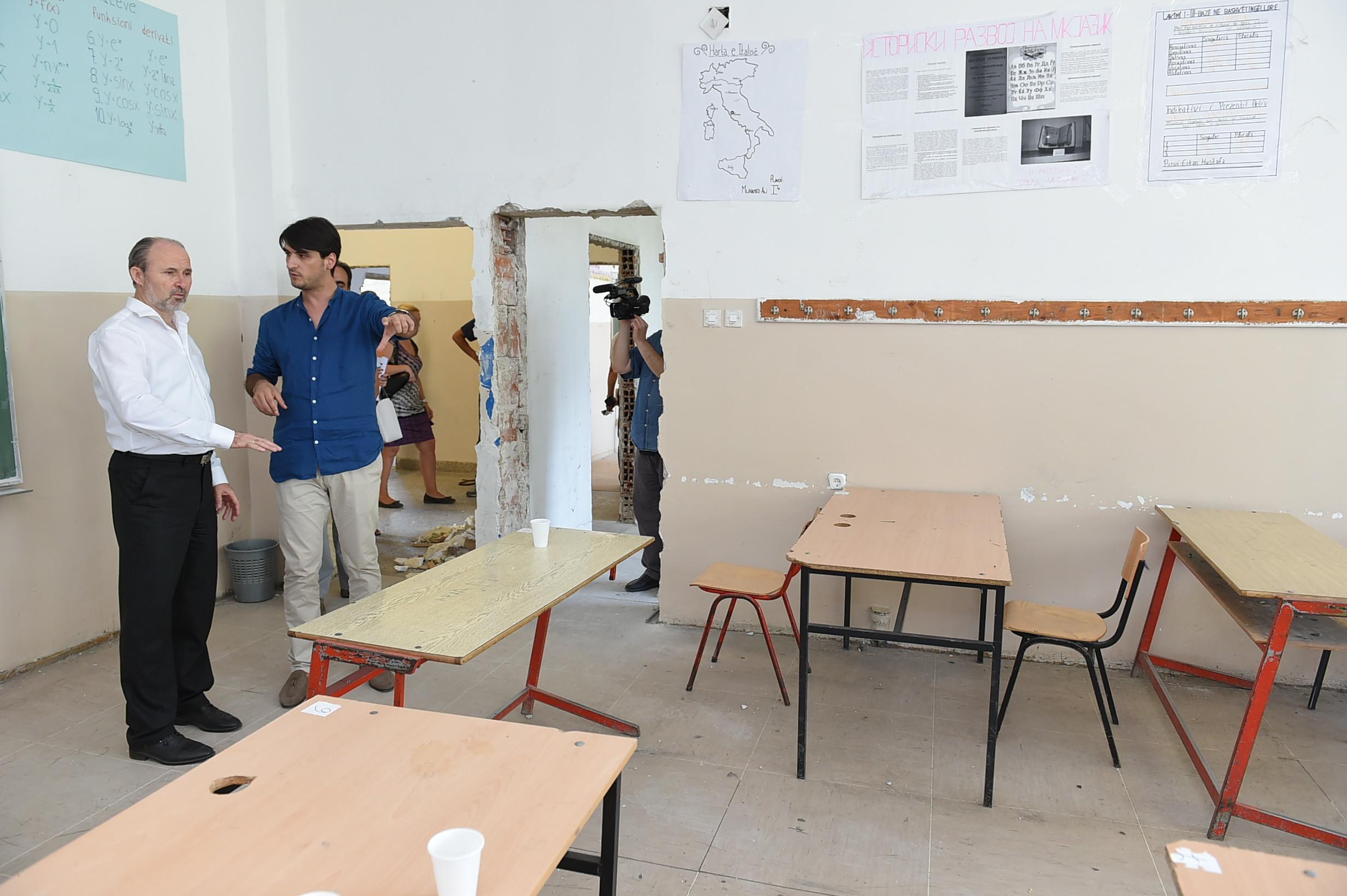 Во тек се реконструкциите на средните училишта на Град Скопје