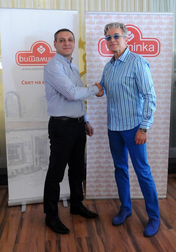 """Владимир Трпаноски, комерцијален директор на """"Витаминка"""" и Владо Јаневски"""