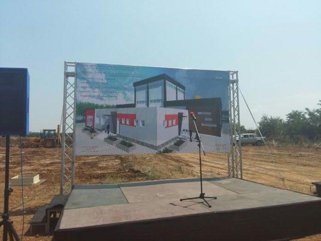 """ФОТО: Германска """"Г.Р.А.Д. Екологија"""" започна со градба на фабрика во Илинден, нови 40 вработувања"""