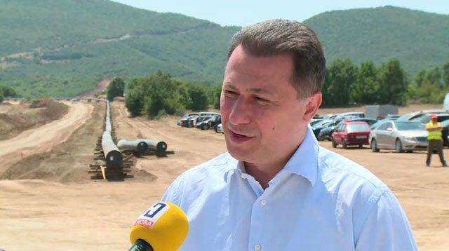 Груевски за гасификацијата: Во август и септември почнува изградбата на уште три нови делници