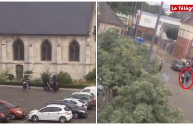 ВИДЕО: Судирот меѓу полицијата и напаѓачите во црквата во Франција