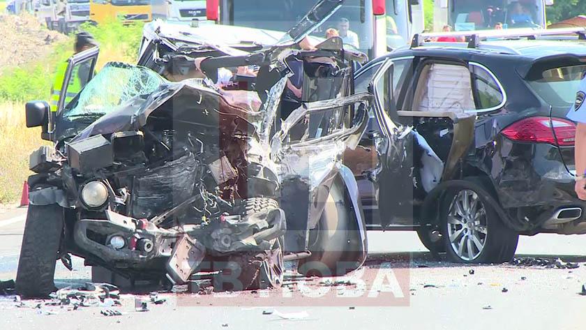 Познат бизнисмен повреден во сообраќајката на патот Кичево – Охрид  (ВИДЕО)