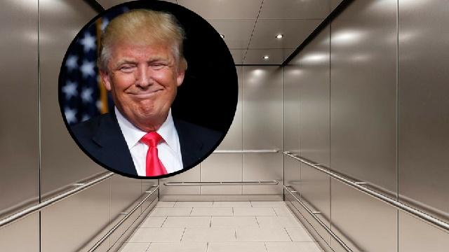 Трамп се заглави во лифт во хотел, пожарникари го спасуваа