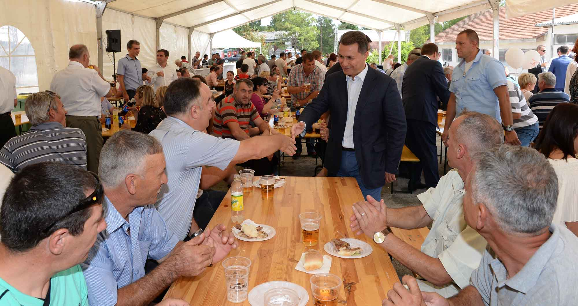 ФОТО: Груевски и Димитриев на ручек со рударите