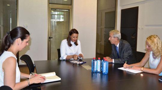 Арсовска – Томовска се сретна со холандскиот амбасадор