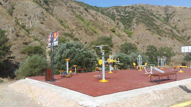 ФОТО: Во завршна фаза фитнес паркот во Штип