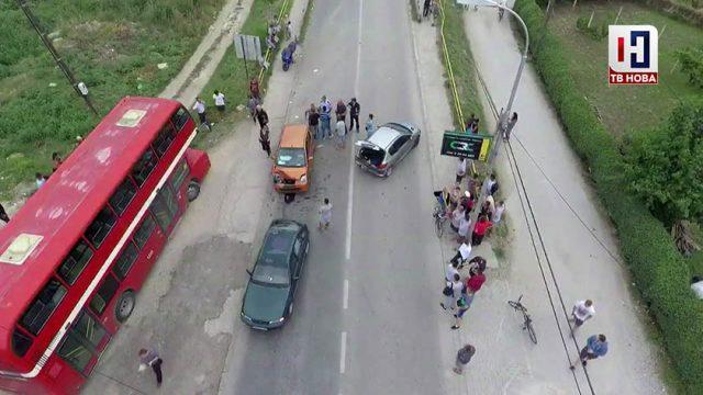 ВИДЕО: Тешка сообраќајка во Ѓорче Петров, има повредени