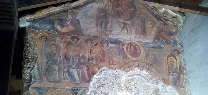 """Конзервација на фрескоживописот во црквата """"Св. Никола"""" во Зрзе"""
