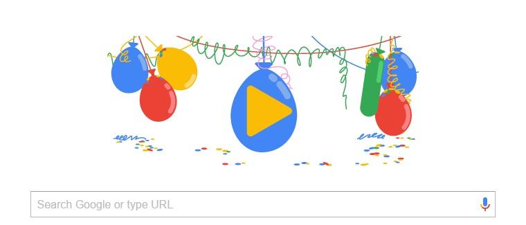 Гугл прославува полнолетство