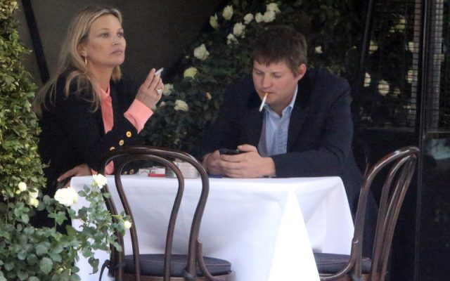 EXCLUSIVE Kate Moss is seen enjoying dinner at Scott's in Mayfair with boyfriend Count Nikolai von Bismarck and friends