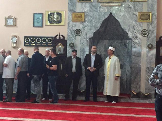 Мисајловски присуствуваше на Бајрамската молитва во Могорче