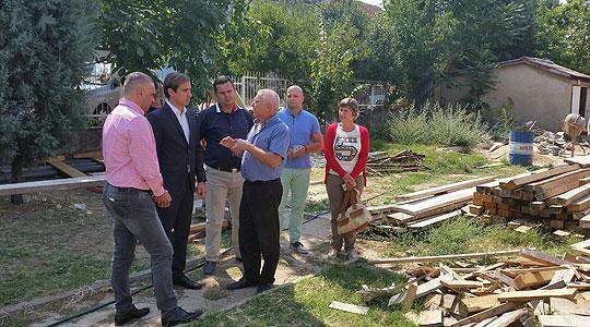 Спасов во посета на градинка во изградба во Виница