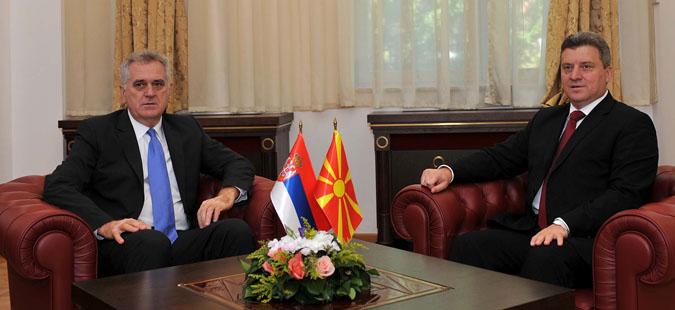 Средба на претседателите на Македонија и на Србија во Битола
