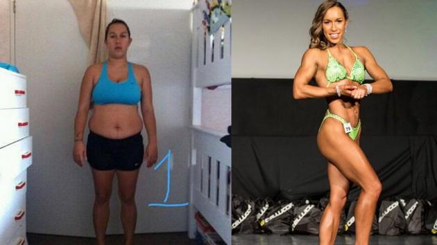 ФОТО: Упорна жена со 2 деца ослабела 28 килограми и станала бодибилдерка