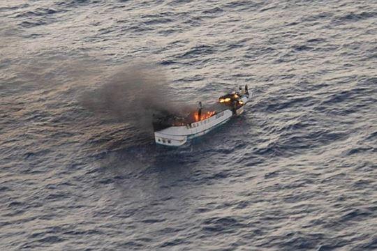 Гори брод под тајванско знаме во Тихиот Океан, 52 лица се во опасност