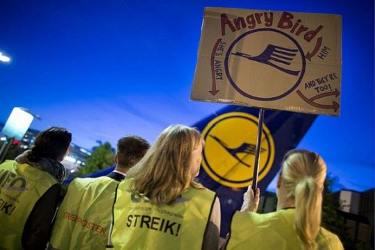 Пилотите на Луфтханза ќе штрајкуваат до сабота на полноќ