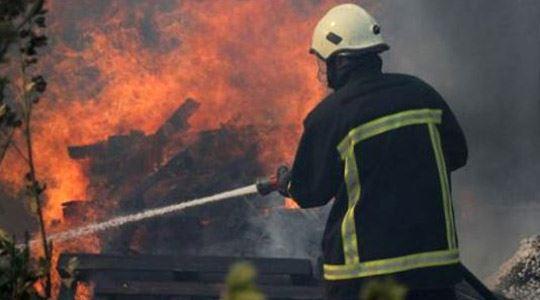 Пожар во стан во Скопје, експлодирала мала плинска боца