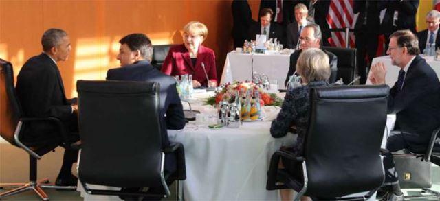 Обама во Берлин се сретна со лидерите на пет европски држави