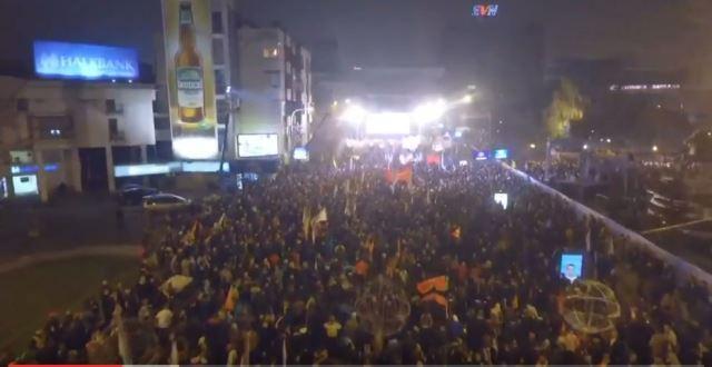 СНИМКА ОД ДРОН: Масовен митинг на ВМРО-ДПМНЕ и Коалицијата