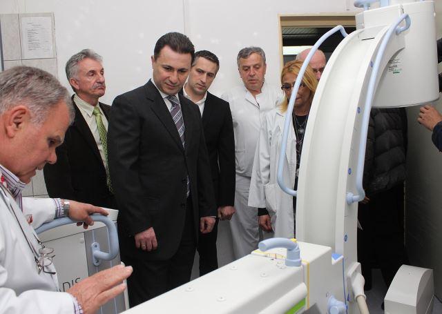 Груевски најави нови капитални инвестиции во здравството
