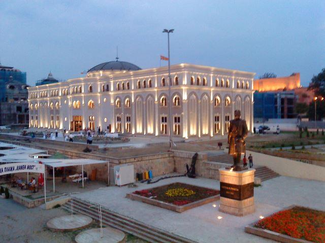 """Изложба """"Македонија и меѓународната заедница – 25 години независност на Република Македонија""""."""