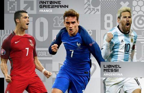 ФИФА ги објави тројцата финалисти за најдобар фудбалер во 2016 година