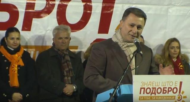 Груевски: Заев очигледно не ја знае математиката и гарантира плати од 2.500 евра во Македонија