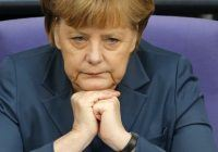 German Chancellor Merkel attends a session of the Bundestag in Berlin