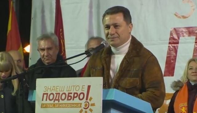 Груевски: Народот ги препозна лагите на Заев и затоа ќе го казни на 11 декември