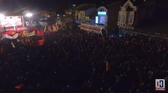 """СНИМКА ОД ДРОН: Eуфоричен завршен митинг на Коалицијата """"За подобра Македонија"""""""