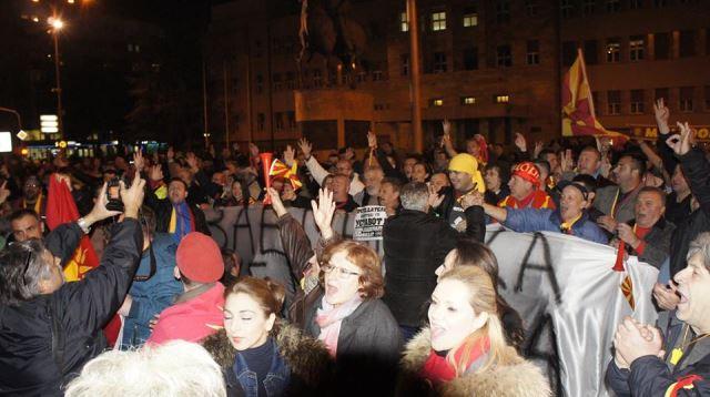 Македонскиот народ во одбрана на јазикот (ВИДЕО)
