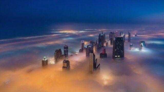 Поглед на Дубаи под магла (ФОТО)