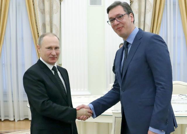 Вучиќ на нова средба со Путин во Москва