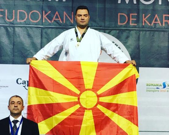 Историски златен медал за македонското карате